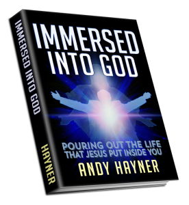 immersed into God display mock up transparent